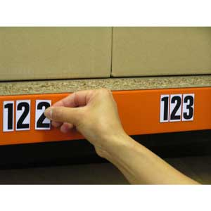 Magnetic Number and Letter Sets for Racking / Shelving Bays