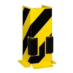 U Profile Pallet Racking Protector With Guide Rollers