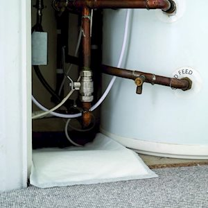 Plumbers Pad - in use