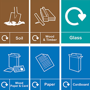Self Adhesive Vinyl Recycling Signs Options