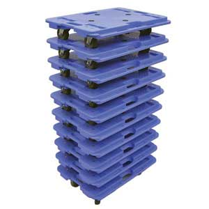 These Plastic Dollies Can Be Stacked Up To 10 High