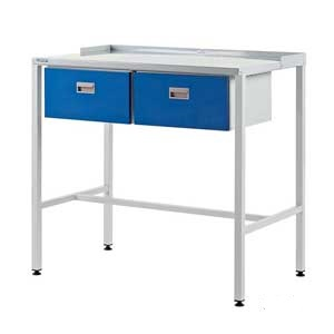 Team Leader Workstation With Flat Top & Two Single Drawers