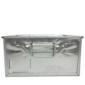 Galvanised Tote Pan Front View