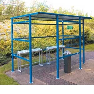 Traditional Cycle Shelter With Perspex Sides