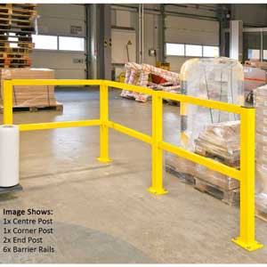 Medium Duty Impact Protection Rails In Warehouse