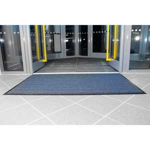Vyna Plush Entrance Mat - Blue