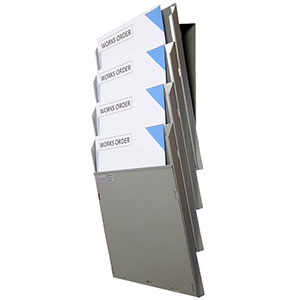 Wall Mounted Cascading Document Display System