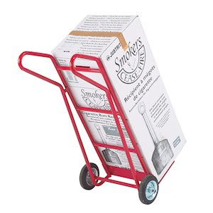 Flat footiron sack truck with solid rubber wheels