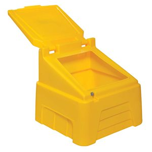 Heavvy-duty yellow 200kg capacity grit bin