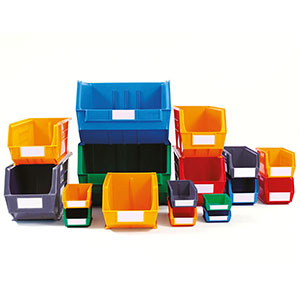 Linbin containers in various sizes and colours