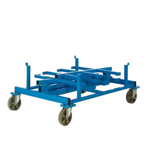 Mobile heavy duty bar rack, folded