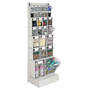 Rhino tilt storage bins in rack