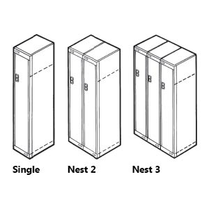 Single Door Metal Locker Nests
