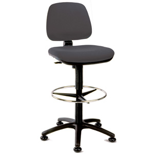 Black Upholstered High Lift Counter Chair