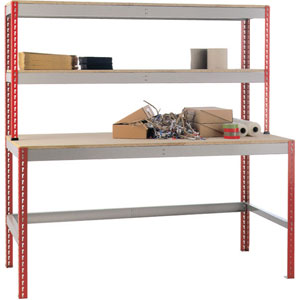 Just<br /> Workstations Chipboard Top & 2 Upper Shelves