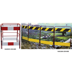 Multi Gate<br /> Metal Folding Barriers for Hazard Protection
