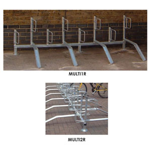 Bike<br /> Storage Racks - Rail Mount with Alternate Ramps