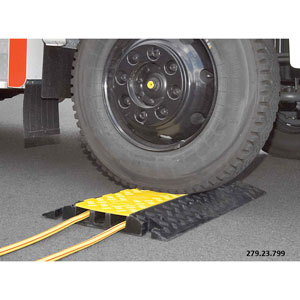 Heavy Duty<br /> Cable Protector Ramp with hinged lid