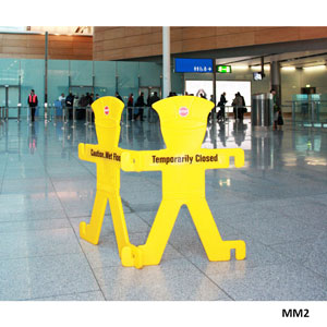 Minder<br /> Barrier Floor Signs with Stand