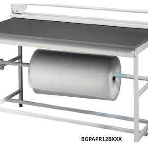 Packing<br /> station paper roll holder for below station