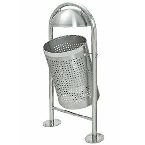 TRAFFIC-LINE Stainless Steel Litter Bin -<br /> Dome Top