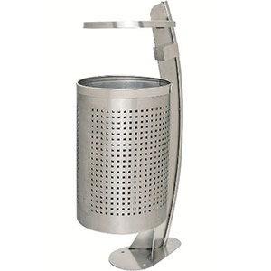 TRAFFIC-LINE Stainless Steel Litter Bin -<br /> Hinge Top