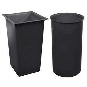Recycled<br /> Black Light Duty Waste Bins