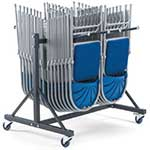 1 Row Low Hanging Storage Trolley for 2000 or 2600 Series Chairs