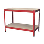 Steel Frame Workbench with Wooden Top