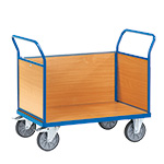 3 Sided Beech Veneer Trolleys
