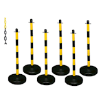 Barrier Kits with 6 Plastic Posts and 8mm Chain