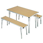 Aluminium edge folding bench seat