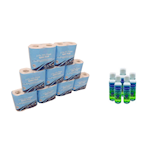Toilet Roll & 100ml Alcohol Hand Cleanser