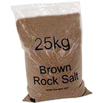 Bulk Brown Rock Salt, Pallet of 21, 42 or 49,  25kg Bags