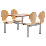 Beech Canteen Table Seating Units