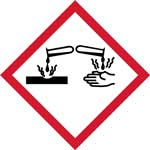 GHS Corrosive Pictogram Labels