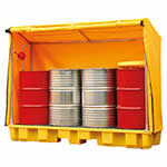 Covered Drum Storage Spill Containment Pallets