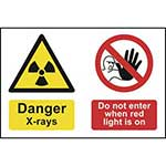 Danger X-Rays Do Not Enter Sign