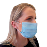 Disposable 3 Ply Face Masks - Pack of 50