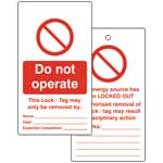 Do Not Operate Lockout Tags (Pack of 10)