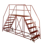 Double Side Access Platforms 3 to 10 treads, 1.6m platform Depth