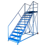Easy Slope 45° Safety Steps 1000mm Wide 3 to 12 Metal Treads