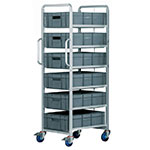 Euro Container Tray Trolleys / Racks with trays