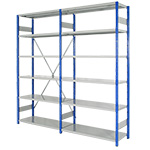 Expo 4 Open Shelving Bays with 6 Shelves