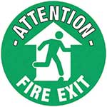 Fire Exit Graphic Floor Marker
