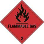 Flammable Gas 2 Diamond Label