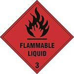 Flammable Liquid 3 Diamond Label