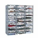 Flexibuild 24 Compartment Mail Sorting Unit in Mesh