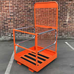 Folding Access Safety Cage for Forklifts 250kg Capacity