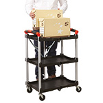 Folding Trolley with 3 Shelves